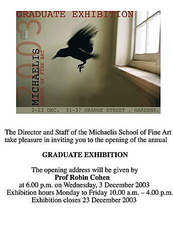 A r t t h r o b l i s t i n g s c a p e michaelis student exhibition invitation image stopboris Images
