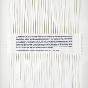 Dan Halter, Of Exactitude in Science. Woven archival prints on Ivory Enigma paper, 28 x 19 cm