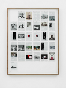 Adam Broomberg & Oliver Chanarin, <i>Genesis</i>, 2013. King James Bible, Hahnemühle print, brass pins, Framed: 145 x 112 x 5 cm. Edition of 3