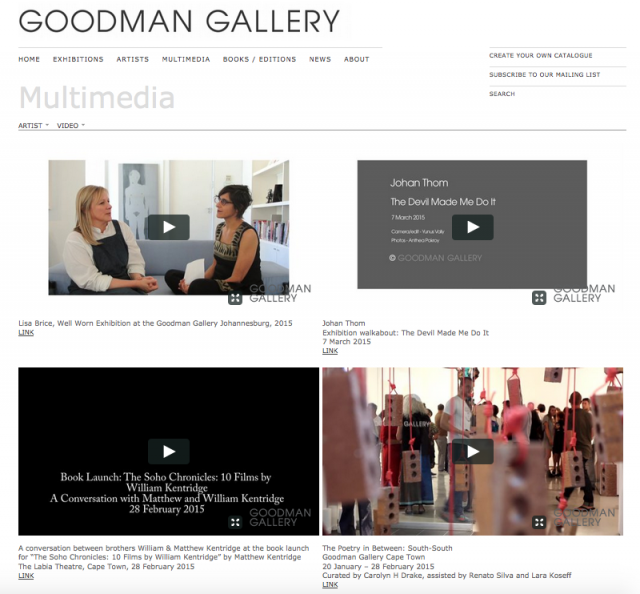 Goodman Gallery | Multimedia page