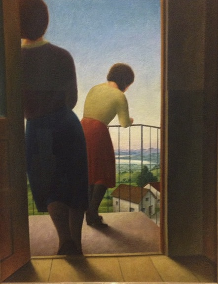 George Schrimpf, <i>On the Balcony</i>, 1927. Oil on Canvas