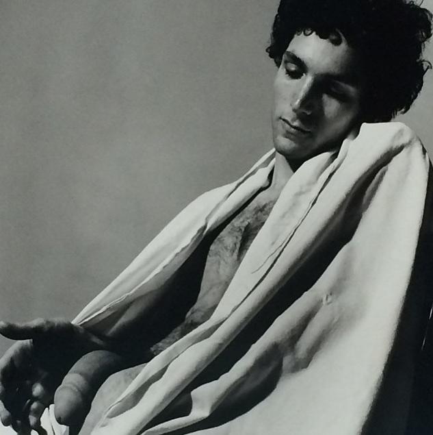 Peter Hujar, <i>Draped Male Nude (i)</i>, 1979, Gelatin silver print,  50.8 × 40.6 cm
