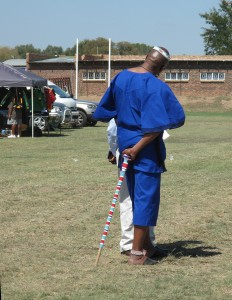 An elegant attendee at the Mompati celebrations