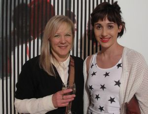Lisa Brice and Luiza Cachalia at the opening of 'Well Worn'