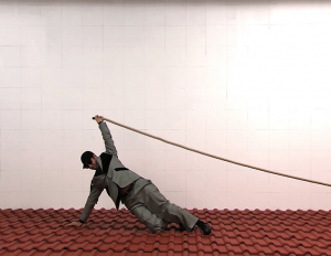 A still from Robin Rhode's video <i>Recycled Matter</i>