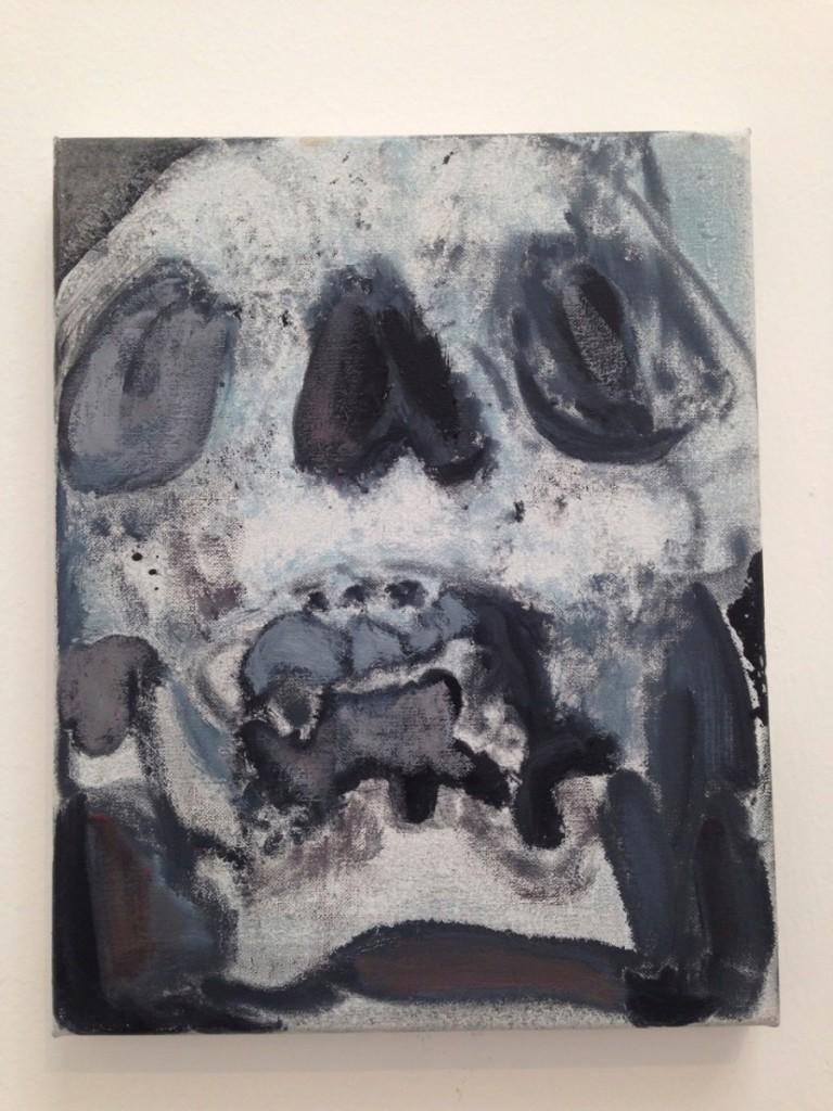 Marlene Dumas, Skulls (2013-2015) Oil on Canvas (detail)