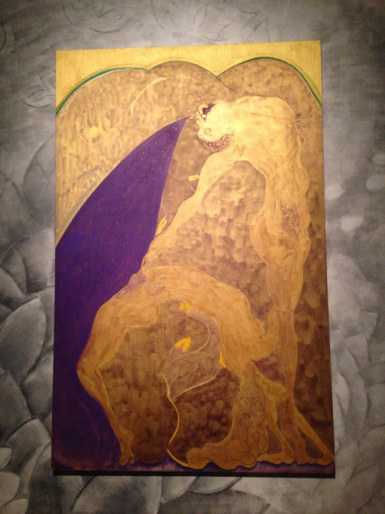 Chris Ofili <i>Bending over Backwards for Justice and Peace</i> (2015), Oil on Linen