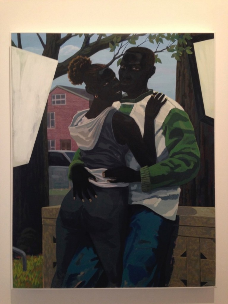 Kerry James Marshall Untitled ( Lovers)(2015), Acrylic on PVC panel