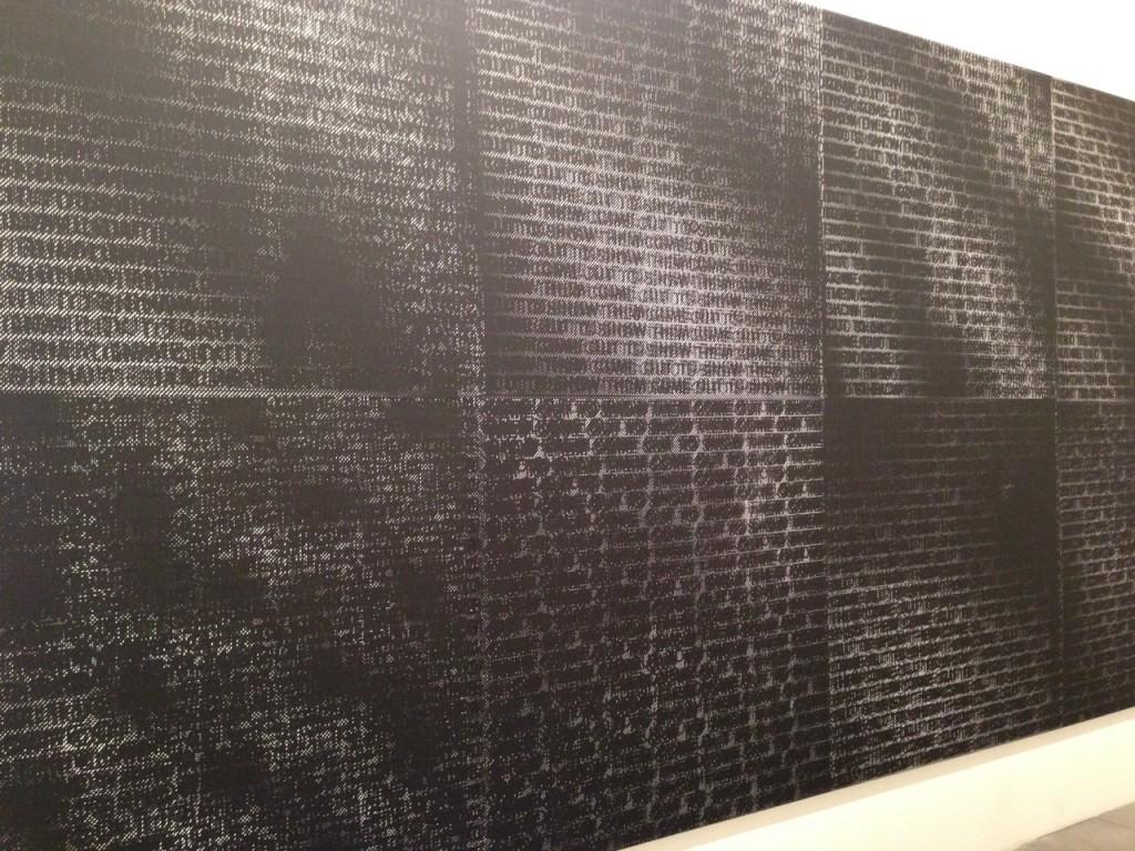 Glenn Ligon, Come Out Number 12,(2015), Screen print on canvas