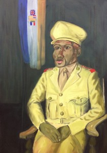 Themba Shibase, <i>Proud Soldier (After Pemba's 'Soldier')<i>, 2014, Oil on Canvas, 110 x 68 cm