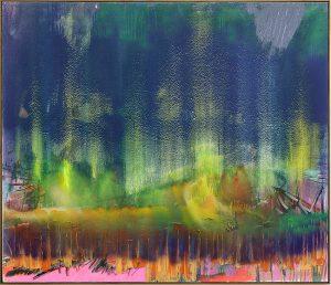 Jan-Henri Booyens, <i>I've got immigrant fears</i> (2015). Oil and mixed media on canvas, 170 x 200 cm