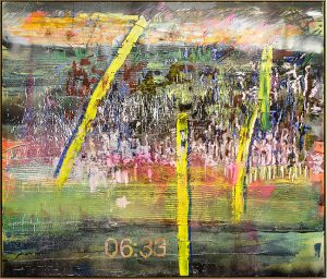 Jan-Henri Booyens, <i>North star fade into you</i> (2015). Oil and mixed media on canvas, 170 x 200 cm