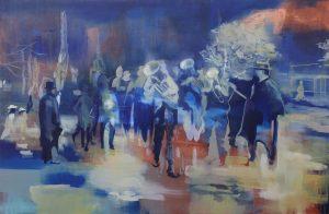 Kate Gottgens <i>Zeitgeist</i>, 2015. Oil on Canvas, 135 x 205 cm
