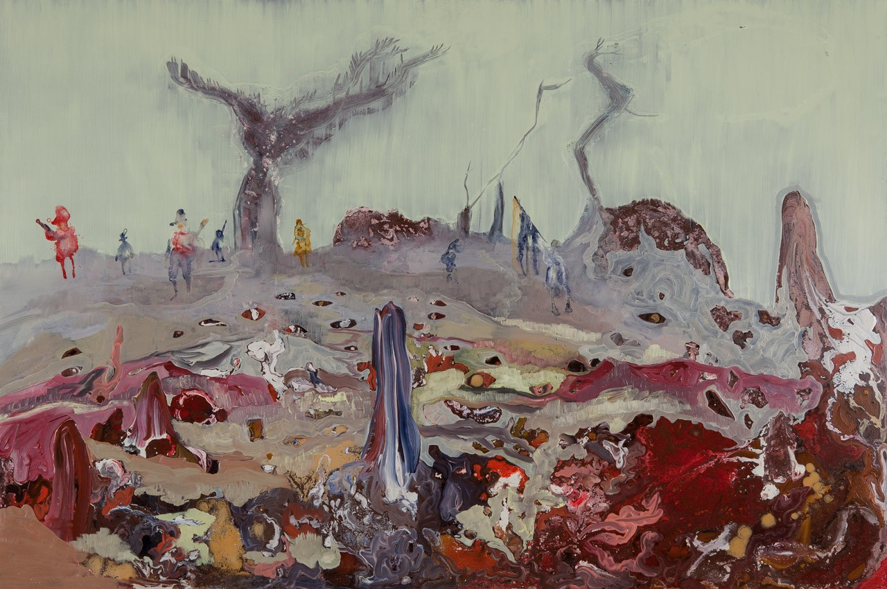 Lizza Littlewort, The Night Watch, 2015. Oil on board, 80x120cm