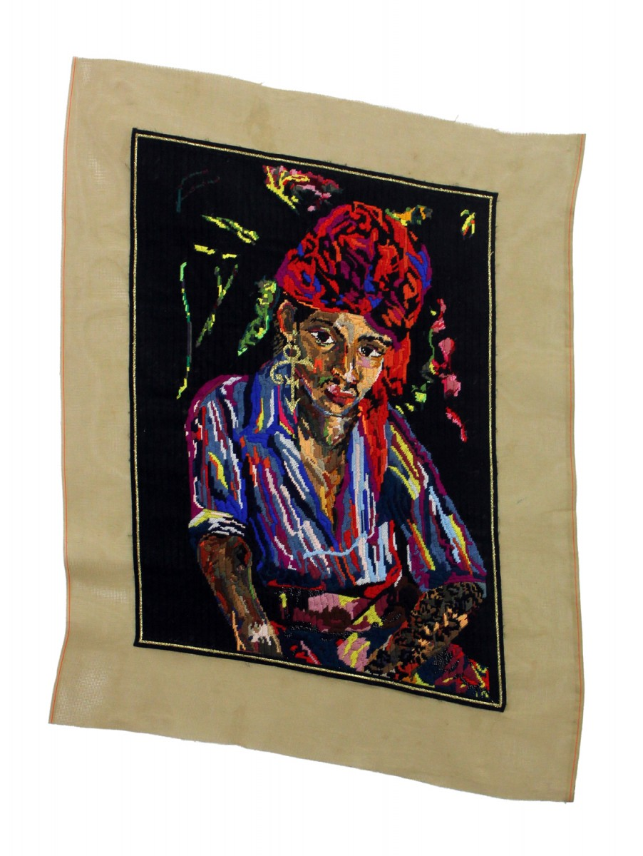 Athi-Patra Ruga, Arab Boy as the Symbol ( after Irma Stern), 2012. 2012 Wool and tapestry thread on tapestry canvas