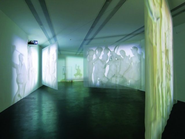 Minnette Vári, Chimera White Edition, 2001. Installation View: World Wide Video Festival, Amsterdam