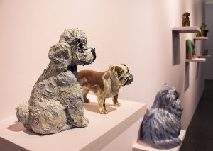 Georgina Gratrix, 'Puppy Love'. Installation view: SMAC Gallery