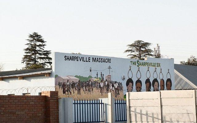 Jabulani Dhlamini, Sharpeville Echoes, 2015. Pigment inks on fiber paper, 90 x 90 cm