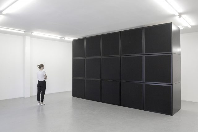 James Webb, Untitled (with the sound of its own making), 2016. Multi-channel loudspeaker system and audio, 3 x 5 x 1m