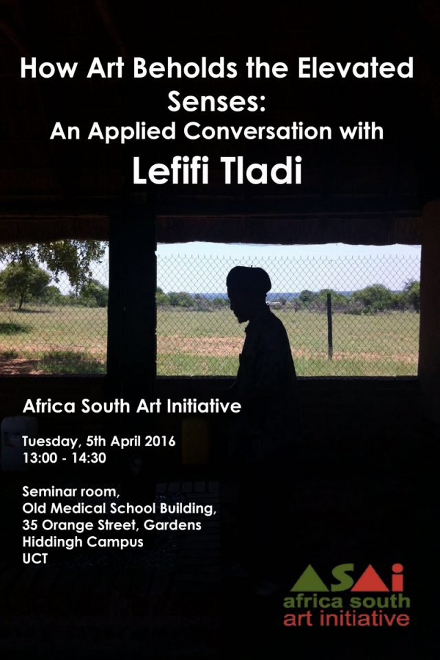 Lefifi Tladi public talks poster by ASAI