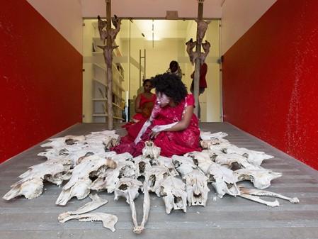 Buhlebezwe Siwani Zem'inkomo Nongqawuse, 2015. Performance still: STEVENSON, Cape Town