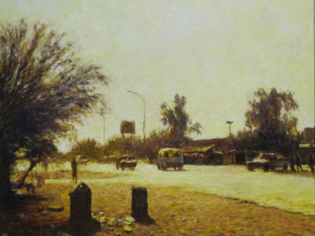 Walter Meyer Tsabong Street Scene, 2003. Oil on canvas