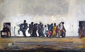 Asanda Kupa<i>Born from Dust</i>, 2016. Oil on canvas