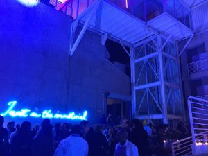 Goodman Gallery party with rosenclaire in the background