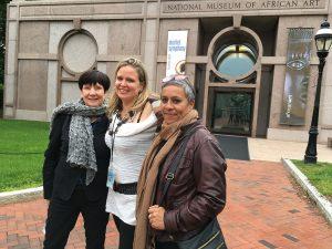 Self, Karen Milbourne and Berni Searle outside the NMAFA