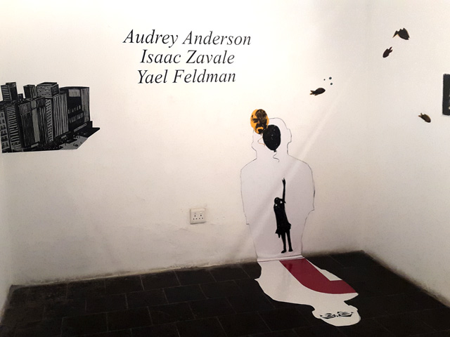 Audrey Anderson, Isaac Zavale and Yael Feldman at AVA Gallery