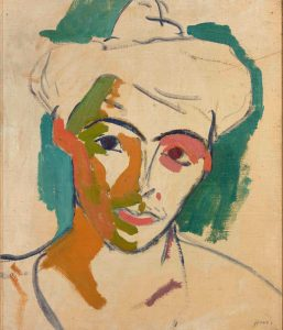 Henri Matisse Portrait de Madame Matisse, 1905. Oil on canvas.