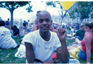 Lyle Ashton Harris <i>Lyle, Gay Pride Parade, San Francisco, 1989</i>, 2015. C-print