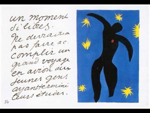 Henri Matisse <i>Icare (Icarus)</i>, 1947. Gouache stencil print on Arches paper. Eighth plate of the book Jazz