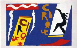 Henri Matisse <i>Le cirque (The Circus)</i>, 1947. Gouache stencil print on Arches paper. Second plate of the book <i>Jazz</i>