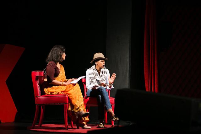 Aida Muluneh with Neelika Jayawardane. Photography: Nicole Olwagen