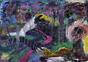Misheck Masamvu <i>Ranked Heads</i>, 2016. Oil on canvas