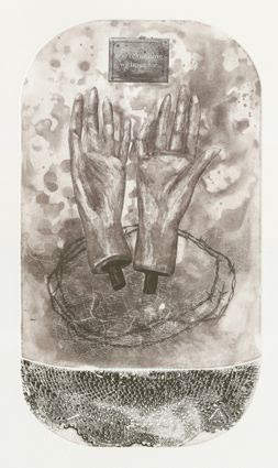 Eunice Geustyn, <i>(Swallow) You're nothing without me, 2016</i>. Drypoint etching