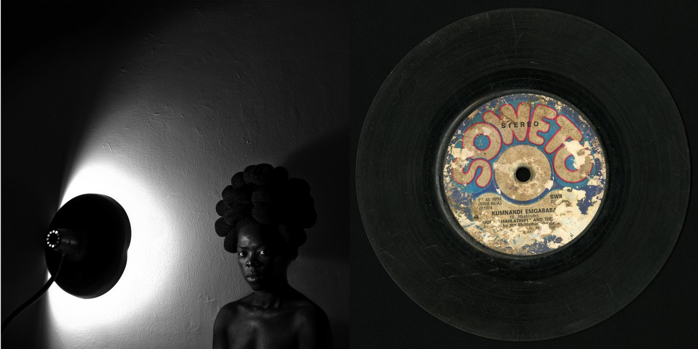 Zanele Muholi's Sasa, Bleecker, New York, 2016 and Siemon Allen's Damaged Archive (Soweto), 2016