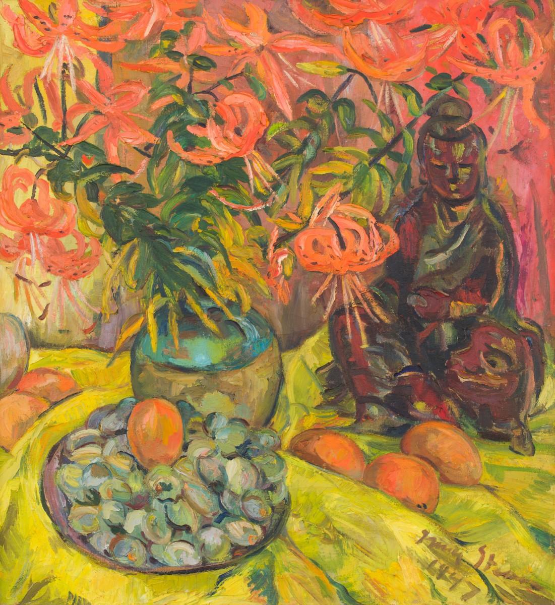 Irma Stern, <i>Still Life with Lilies</i> (1947). R5 000 000 – 7 000 000