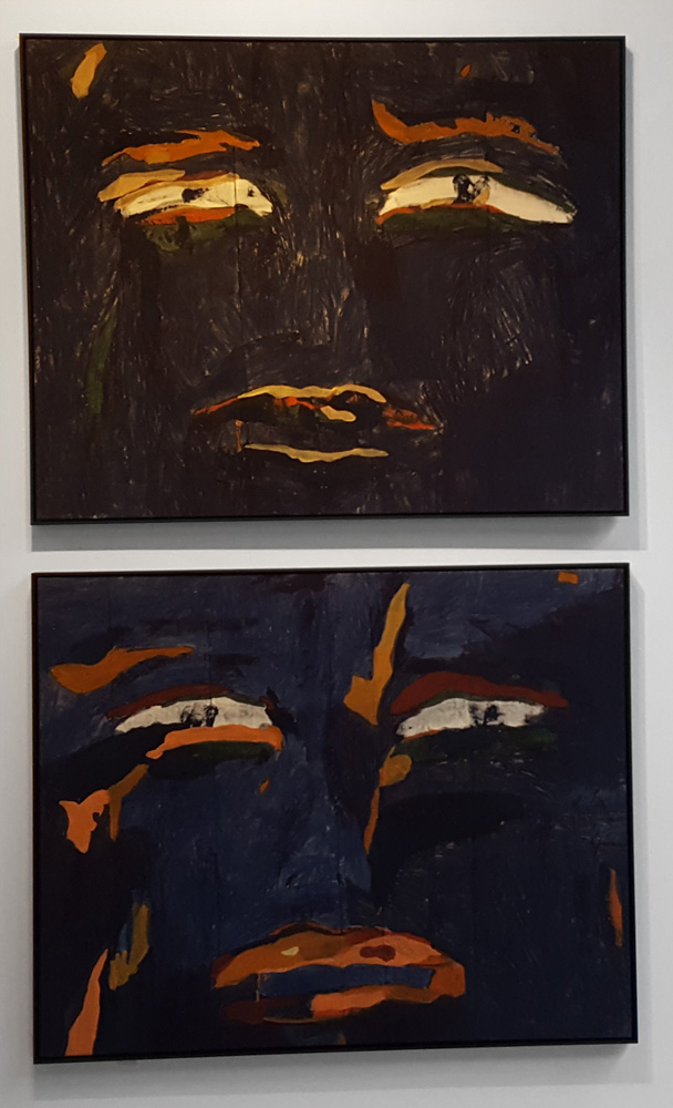 Jeanne-Gaigher, Living Room Set (I and II),2016. Acrylic and ink on canvas, 82 x 102cm (each)