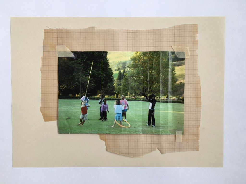 Josie Grindrod, Fête champêtre: The Referent, 2007. Laser print and graph paper, 30 x 28 cm