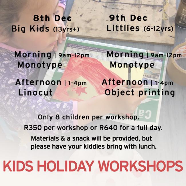 Kids Holiday Workshops @ Warren Editions