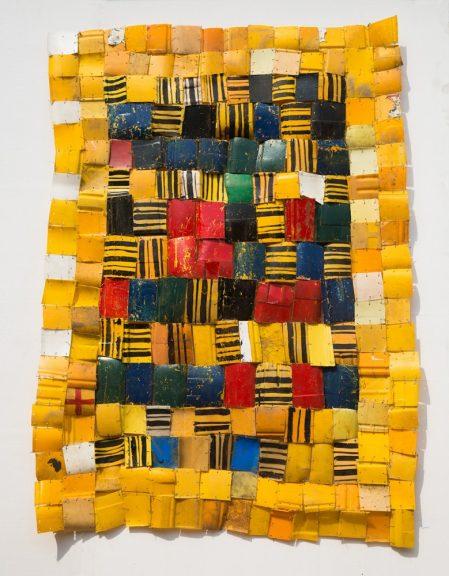 Serge Attukwei Clottey, Self Acquired, 2016. Plastics, wire, and oil paint