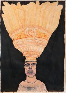 Stephen Allwright, headdress and faint mouth