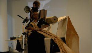 Donna Kukama, <i>B: I, Too</i>, 2016. Performance at Live Uncertainty, 32nd Sao Paulo Bienal, Brazil