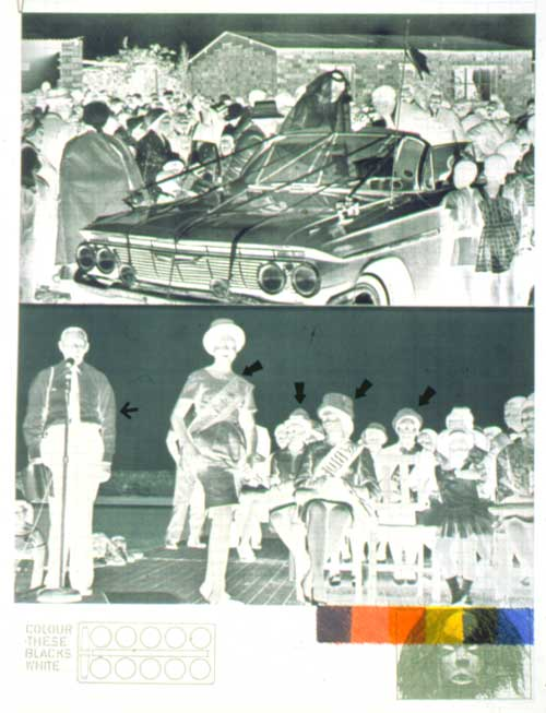 A South African Colouring Book 1976 8 Collage Screenprint