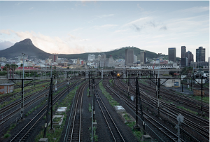 David Lurie Cape Town train station, from N2 Motorway, 2013. Digital print on fibre-based archival paper, 65 x 97 cm