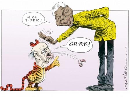 Jonathan Shapiro Mandela, nice tiger, 1995. Digital print. Mail & Guardian