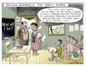 Jonathan Shapiro Mandela: The Early Years, 1998. Digital print. The Sunday Times