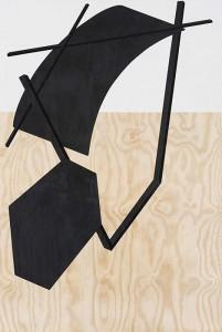 Serge Alain Nitegeka Silence: Studio Study XII , 2014. Paint on wood, 182 x 122 x 7.5 cm